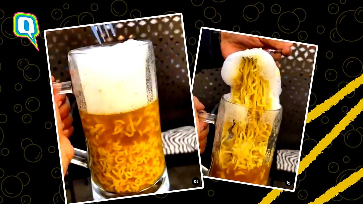 The beer Maggi is served at Housefull, New Delhi.