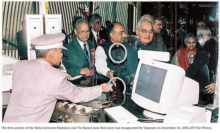 Did PM Modi Say Vajpayee Started the First Metro in the Country?