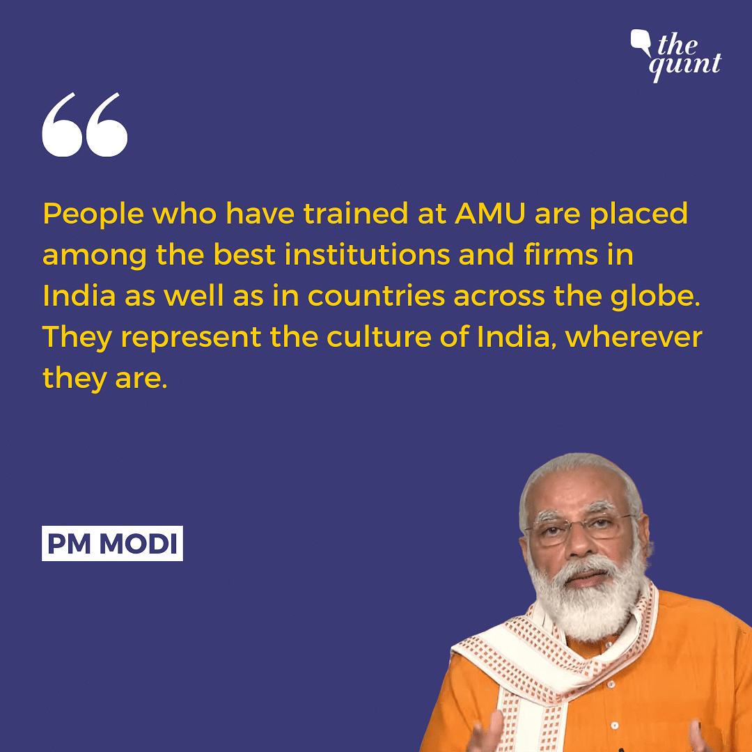 Those Educated at AMU Represent the Culture of India: PM Modi