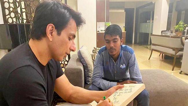 Watch: Sonu Sood Flies Down Fan Cycling From Bihar to Meet Him