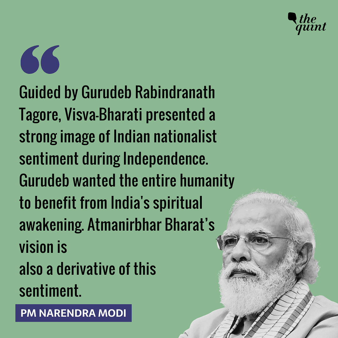 Visva Bharati an Image of Nationalist Sentiment: Modi at Uni