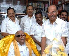 PMK founder Ramadoss with DMK supremo Karunanidhi.