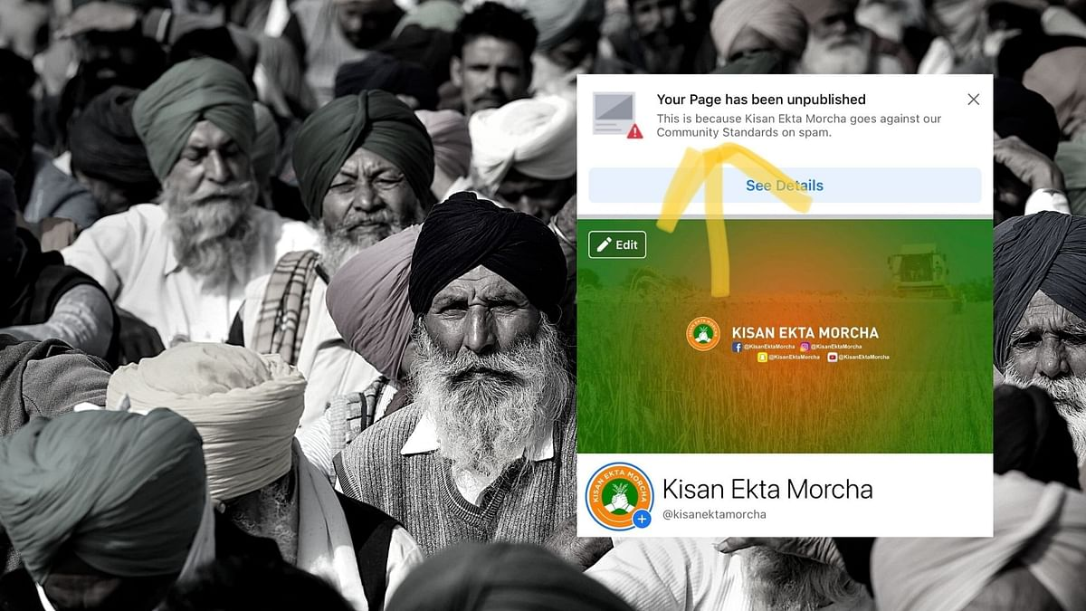 "The Facebook page of Kisan Ekta Morcha that was being used by the farmers who are <a href=""https://www.thequint.com/topic/farmers-protest"">protesting</a> against the contentious farm laws, was blocked on Sunday, 20 December, as alleged by the protesters."