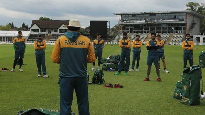 File Image of Pakistan cricket team in training.