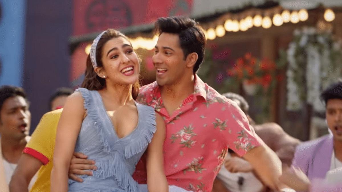 Varun Dhawan romances Sara Ali Khan in '<i>Mirchi Lagi Toh</i>' from <i>Coolie No 1</i>.