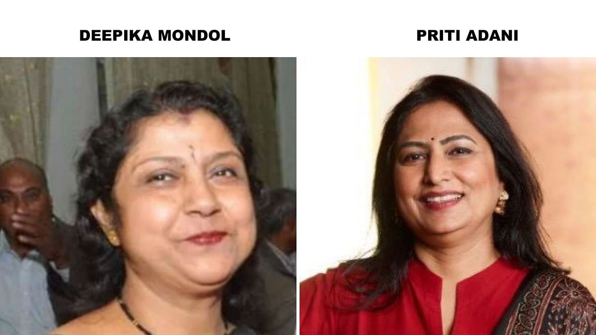 Left: Deepika Mondol. Right: Priti Adani.