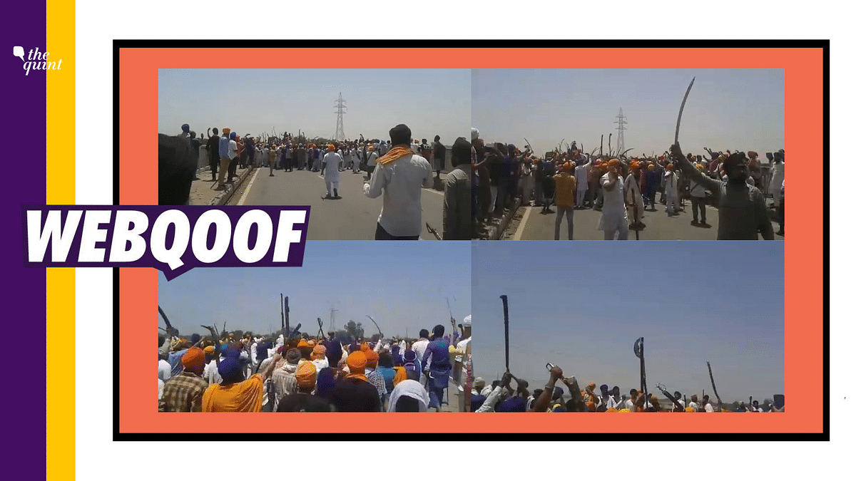 Farmers With Swords Raising Pro-Khalistan Slogans? Video is Old!