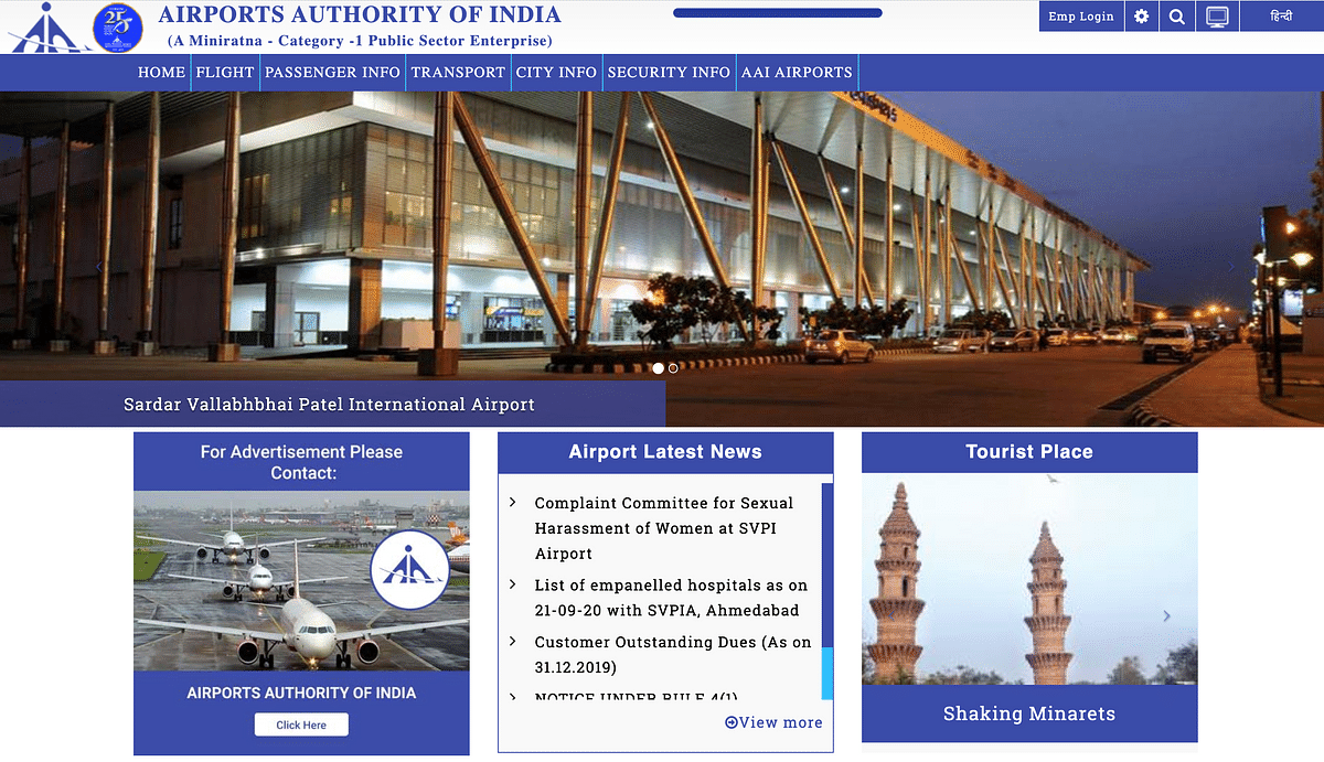 Ahmedabad Airport Renamed as Adani Airport? Cong's Misleading Post
