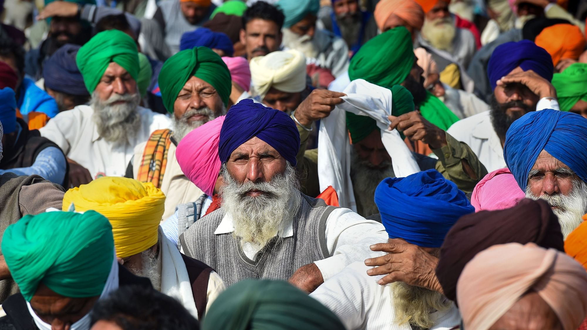 Farmers from Punjab and Haryana at Delhi border, protesting against the new agri laws. Image used for representational purposes.
