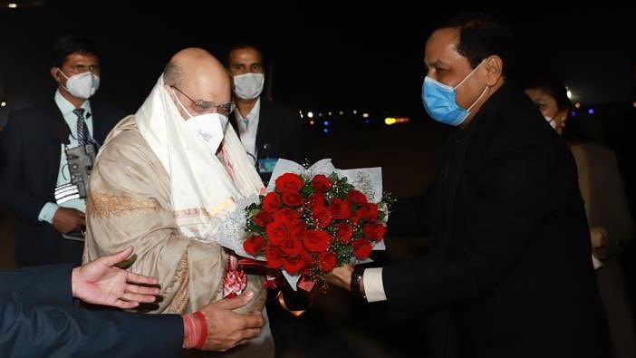 Union Home Minister Amit Shah arrived in Guwahati, which will go to polls in a few months from now.