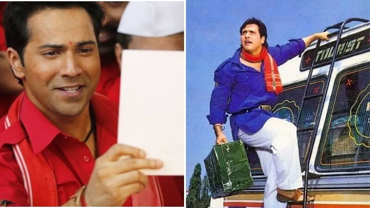 Varun Dhawan and Govinda in Coolie No 1 and Coolie No 1 remake.