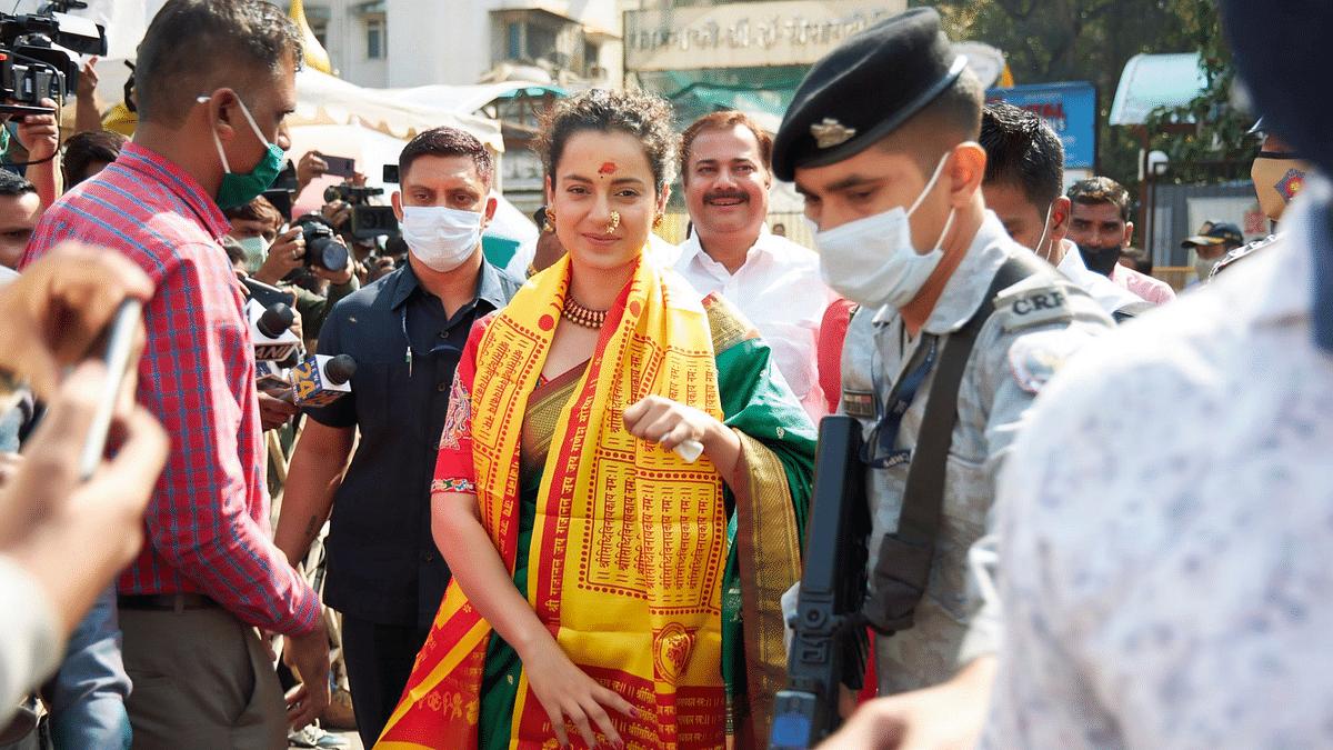 Pics: Kangana Visits Siddhivinayak Temple After Facing 'Hostility'