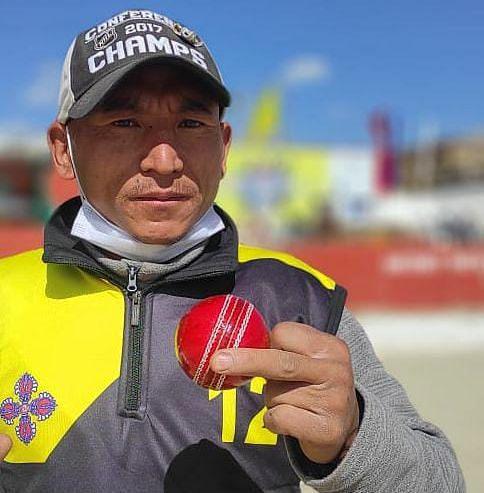 Skalzang Dorjey is a left-arm spin bowler.
