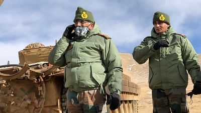Army Chief Visits Forward Posts Along LAC in Ladakh, Takes Stock