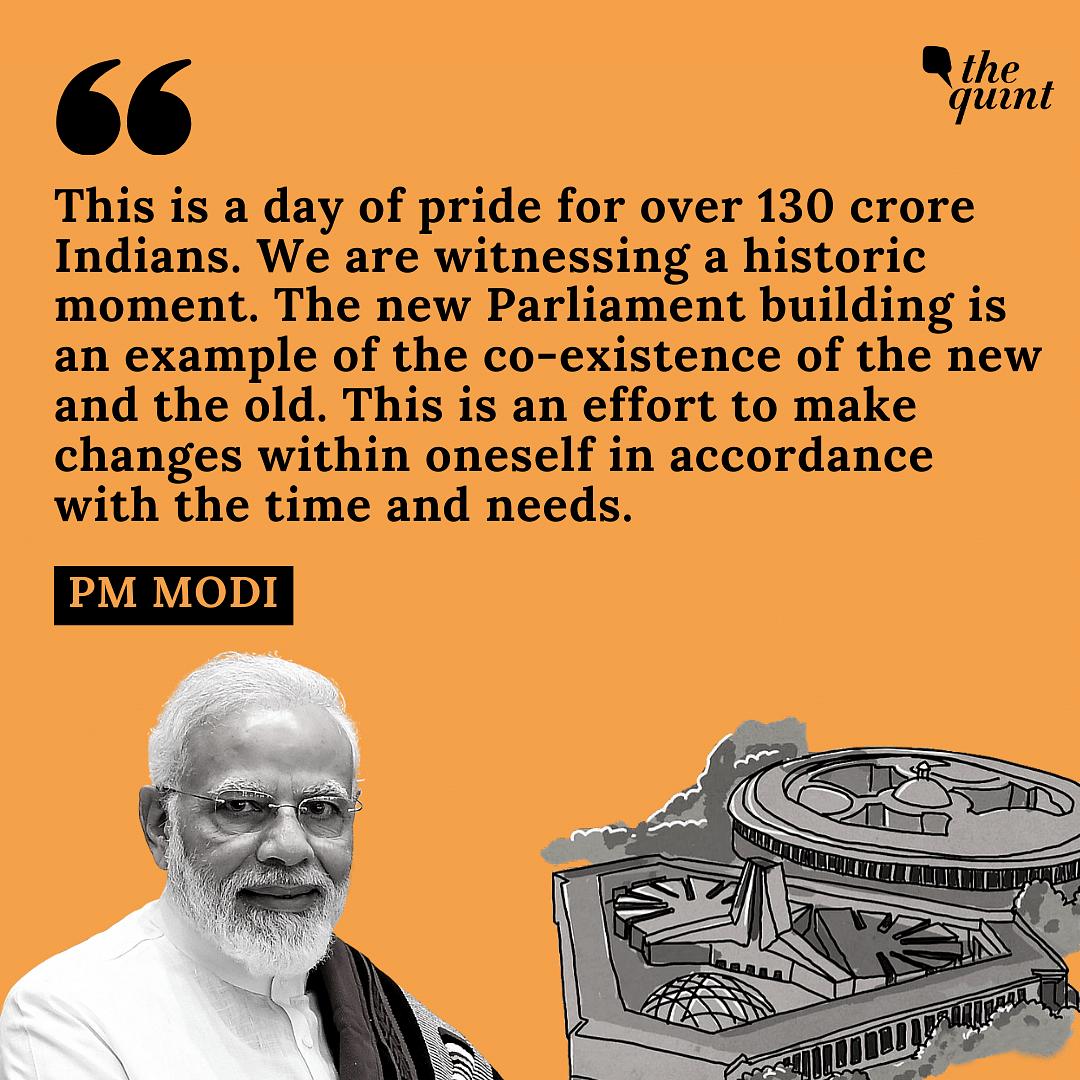 'Day of Pride': PM Modi Lays Foundation Stone for New Parliament