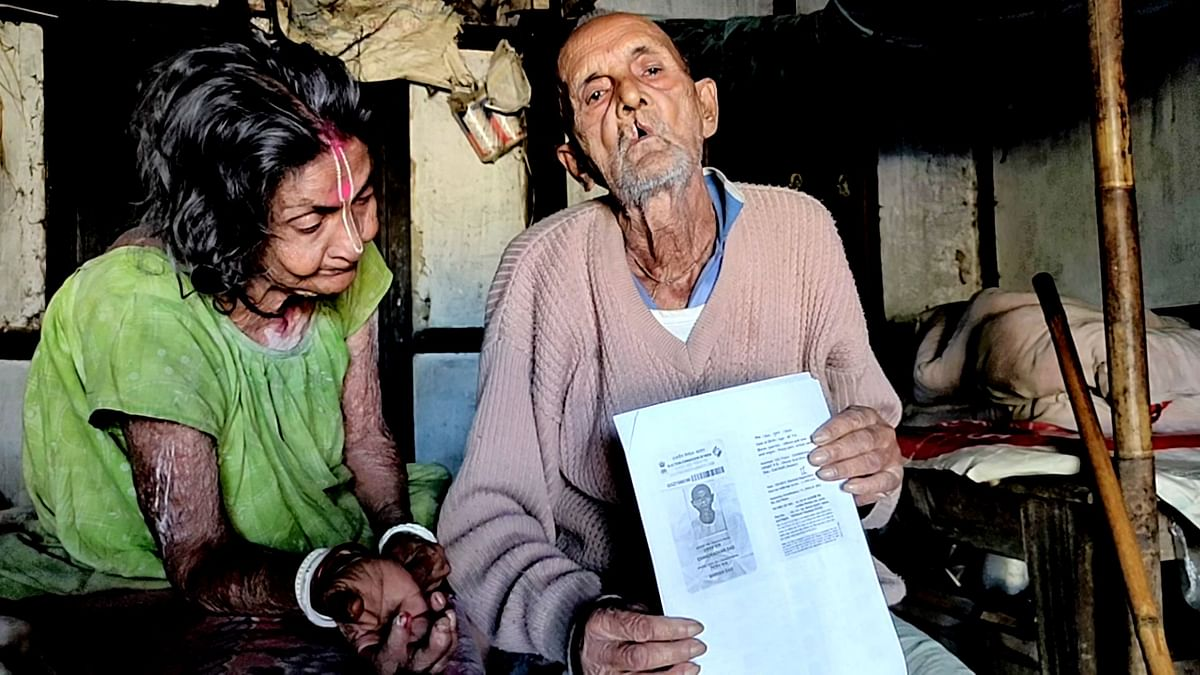 104-year-old Chandradhar Das had to spend three months in a detention camp in 2018.