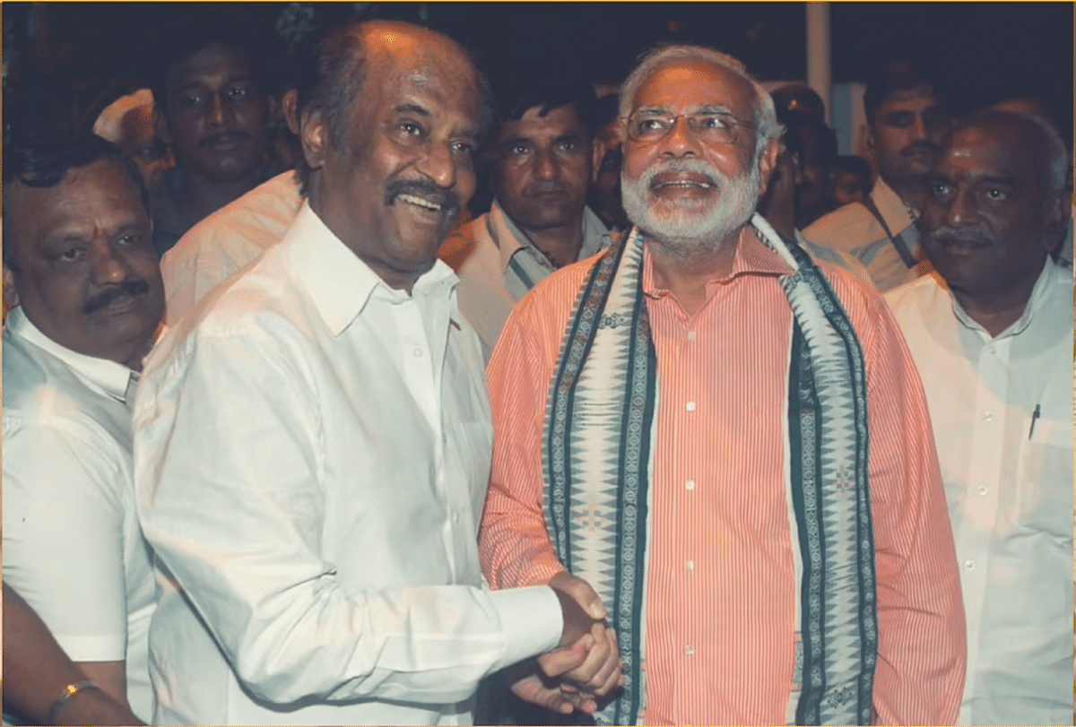 Rajinikanth was a guest at the swearing-in ceremony of PM Narendra Modi during his second term.