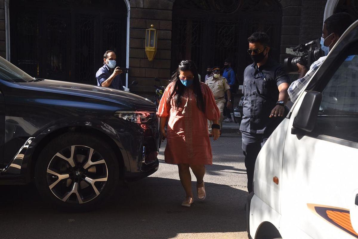 Bharti Singh at NCB office.