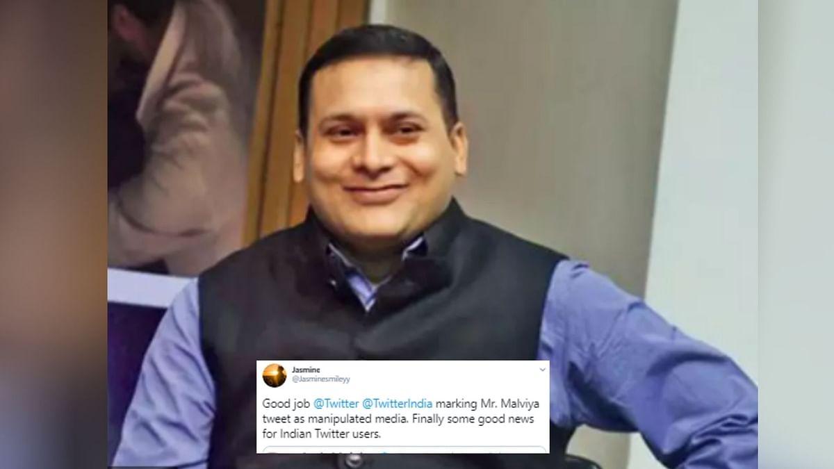 Twitter Tags Amit Malviya's Tweet as 'Manipulated', Netizens Happy
