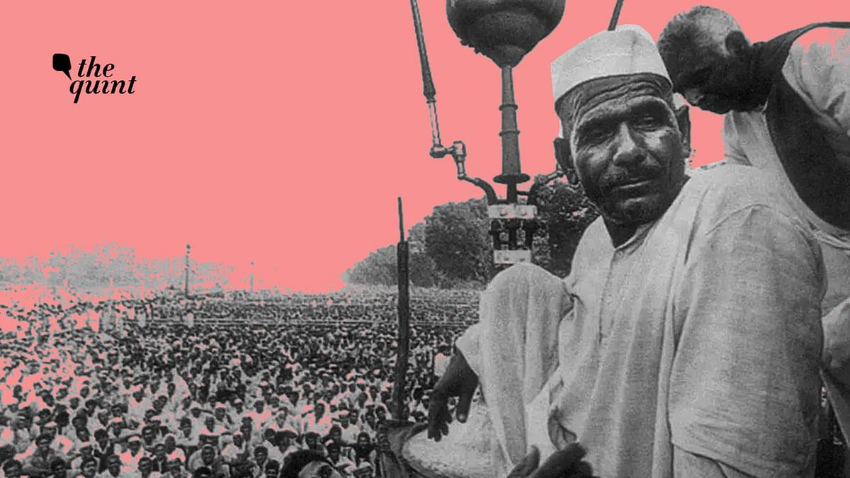 Image of iconic leader Mahendra Singh Tikait at a farmers' movement over 30 years ago. Image used for representational purposes.