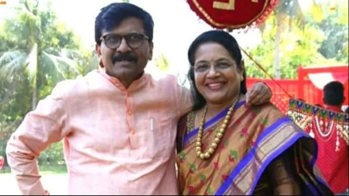 Shiv Sena MP Sanjay Raut and wife Varsha Raut.