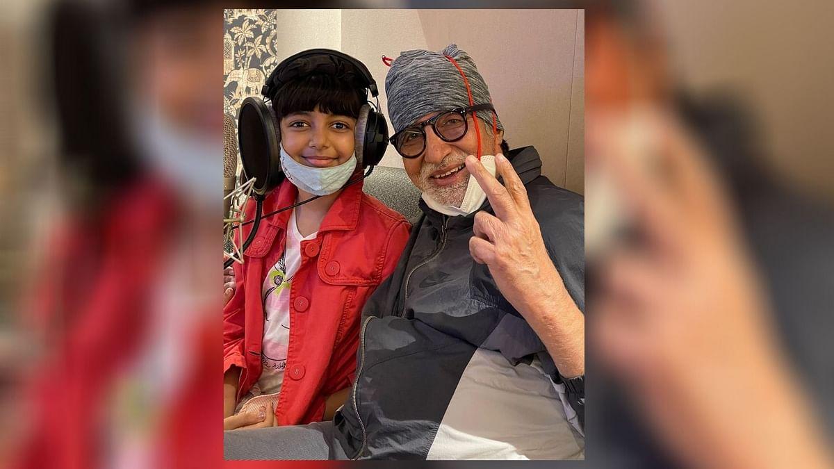 Amitabh Bachchan with Aaradhya.