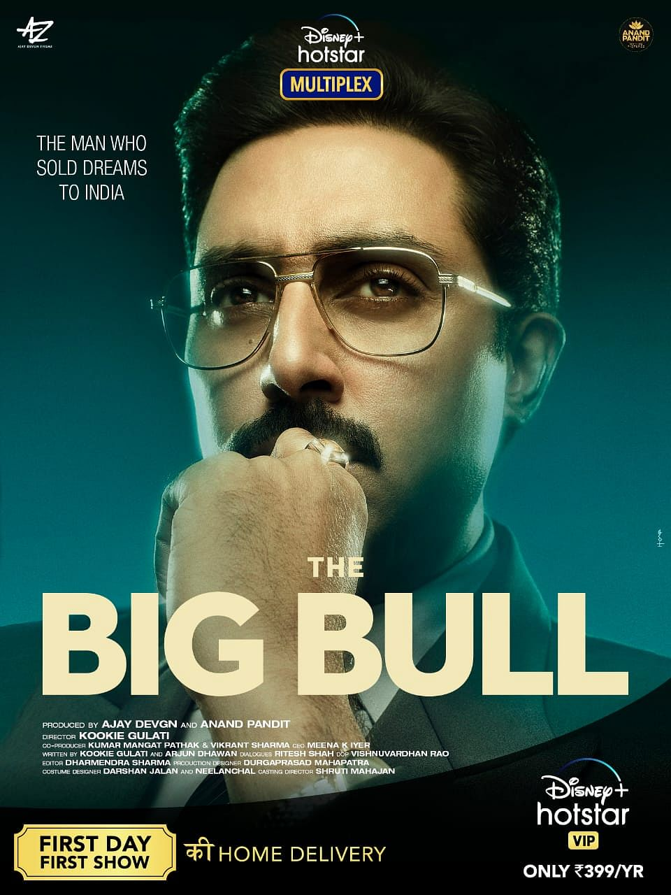 Abhishek Bachchan plays a stock broker in <i>The Big Bull </i>.