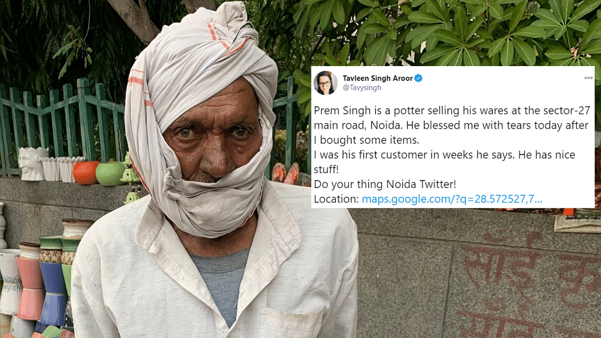 Noida Potter Suffers Loss, Twitter Helps Him Get Back on His Feet