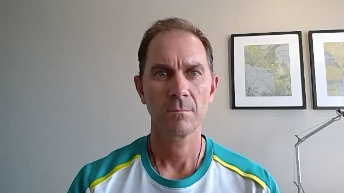 Australia head coach Justin Langer addresses a virtual press conference ahead of the final Test against India.