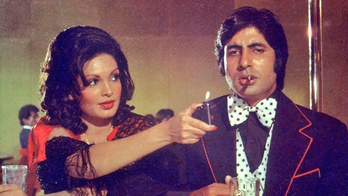 Parveen Babi and Amitabh Bachchan in <i>Deewar.</i>