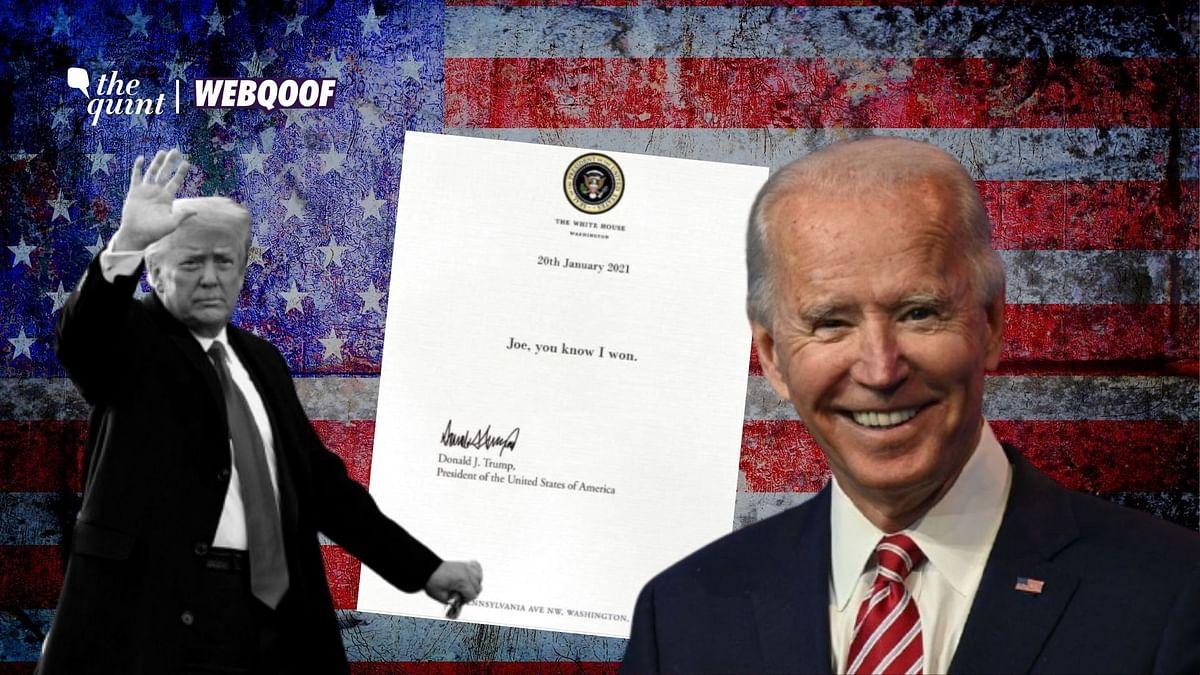 Did Donald Trump Say 'He Won' in His Last Letter to Joe Biden?