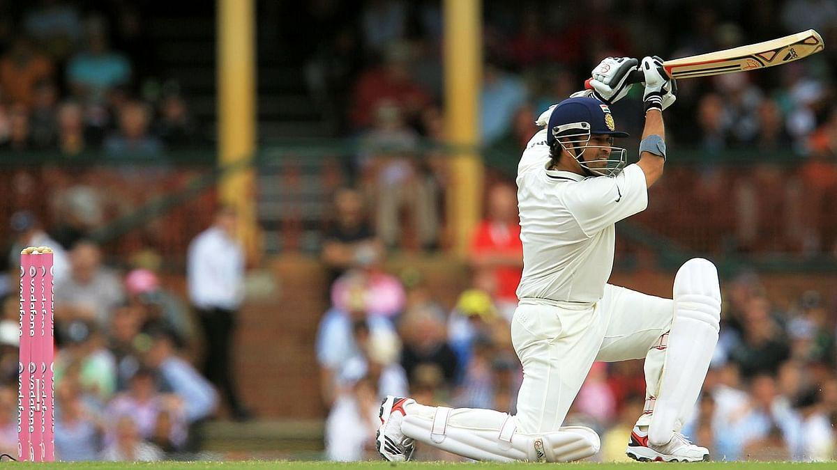 Sachin Tendulkar batting at the Sydney Cricket Ground.