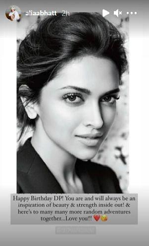 An Inspiration: Alia Bhatt, Prabhas Wish Deepika Padukone on B'day