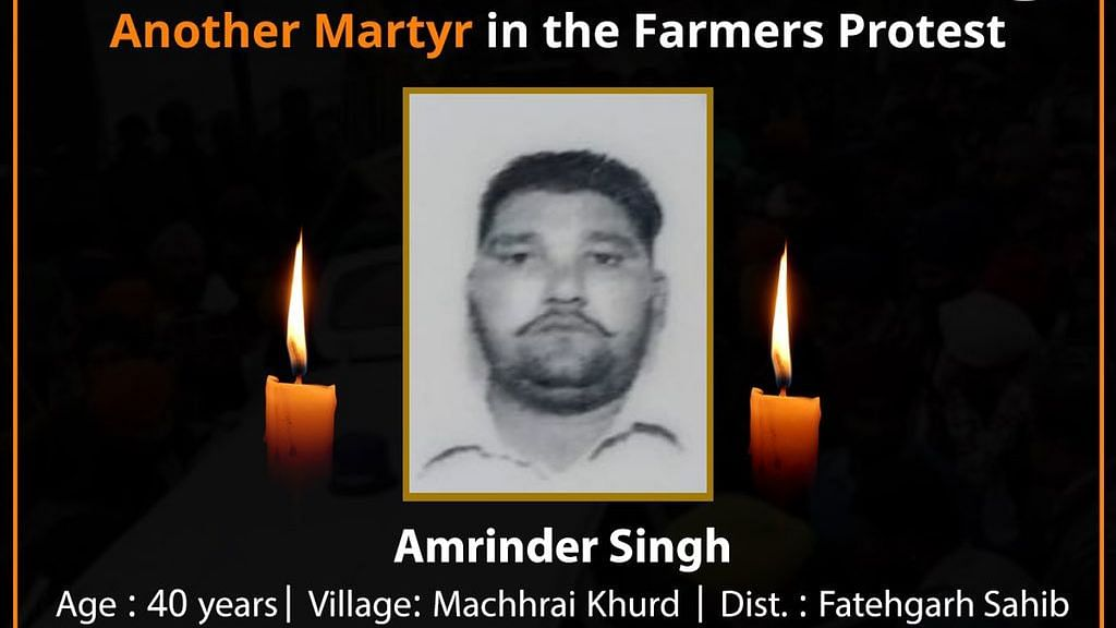 Fourth Suicide at Singhu Border; 40-Yr-Old Farmer Consumes Poison