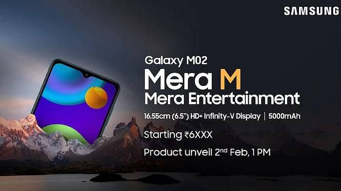 Samsung Galaxy M02 to Launch on 2 Feb:  Price, Features