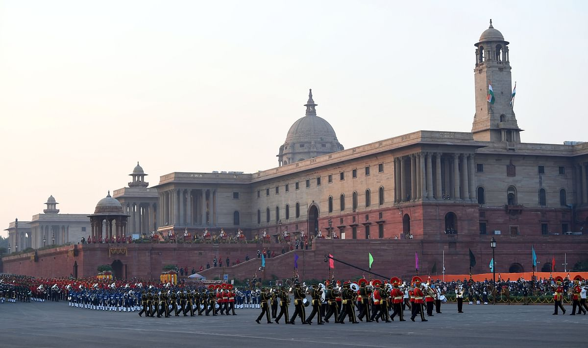 Glimpses of the Beating Retreat ceremony.