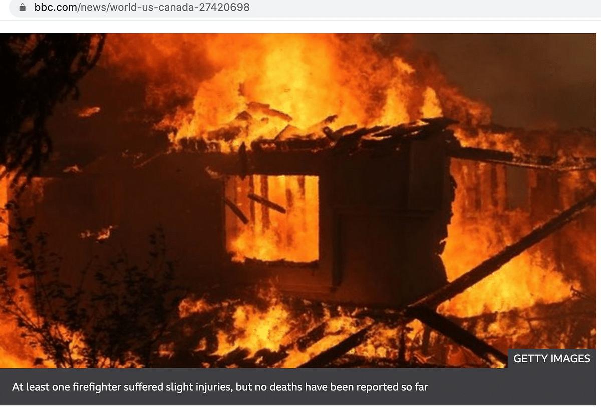BJP Bengal Uses  Pic From California to Say TMC Vandalised Homes