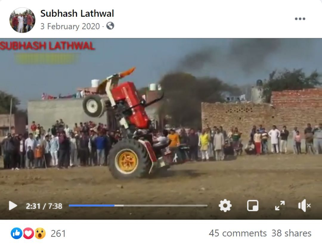Old Video of Tractor Stunts Shared As Republic Day Parade Practice