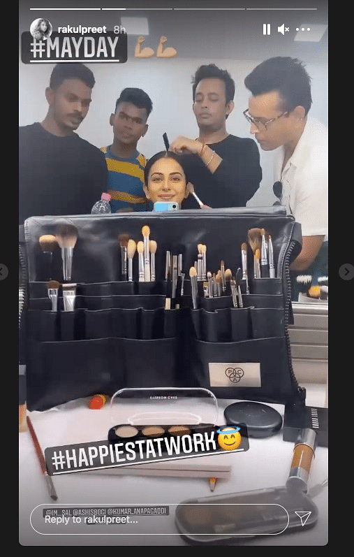 Happiest at Work: Rakul Preet Singh Resumes Shoot for 'MayDay'