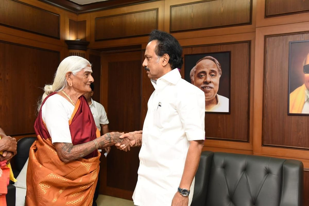 Pappammal served as the panchayat councillor in 1959 and is also a member of the DMK party.