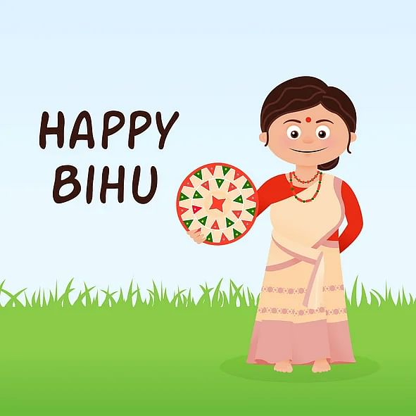 Happy Bihu images to share on WhatsApp and Facebook.
