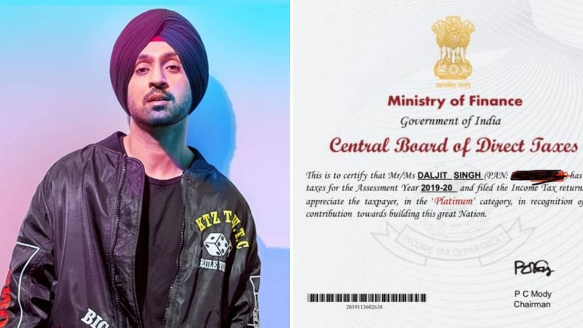 Diljit Shares 'Certificate' From Finance Min Amid Reports of Probe