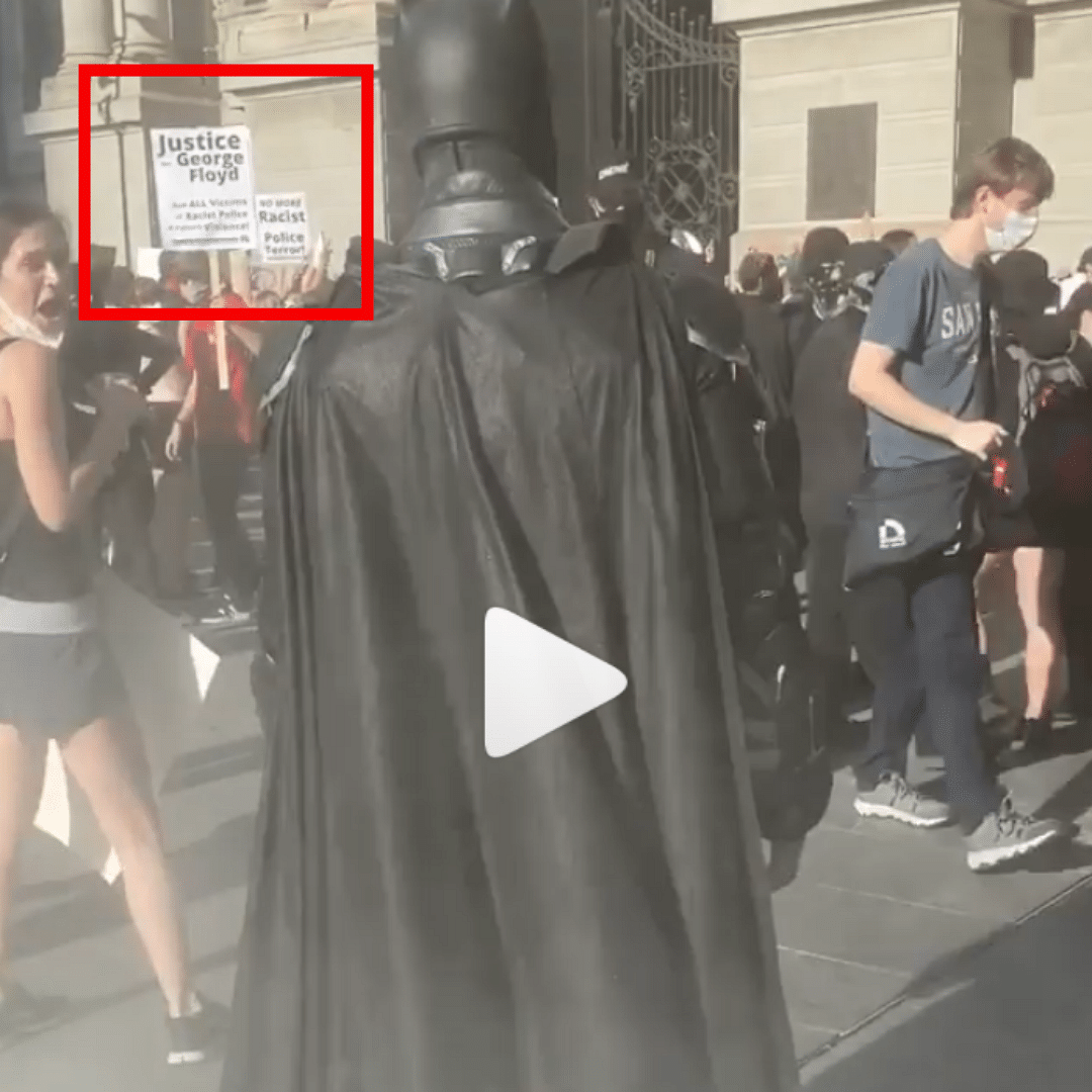 Video of 'Batman' at Floyd Protests Revived Amid US Capitol Siege