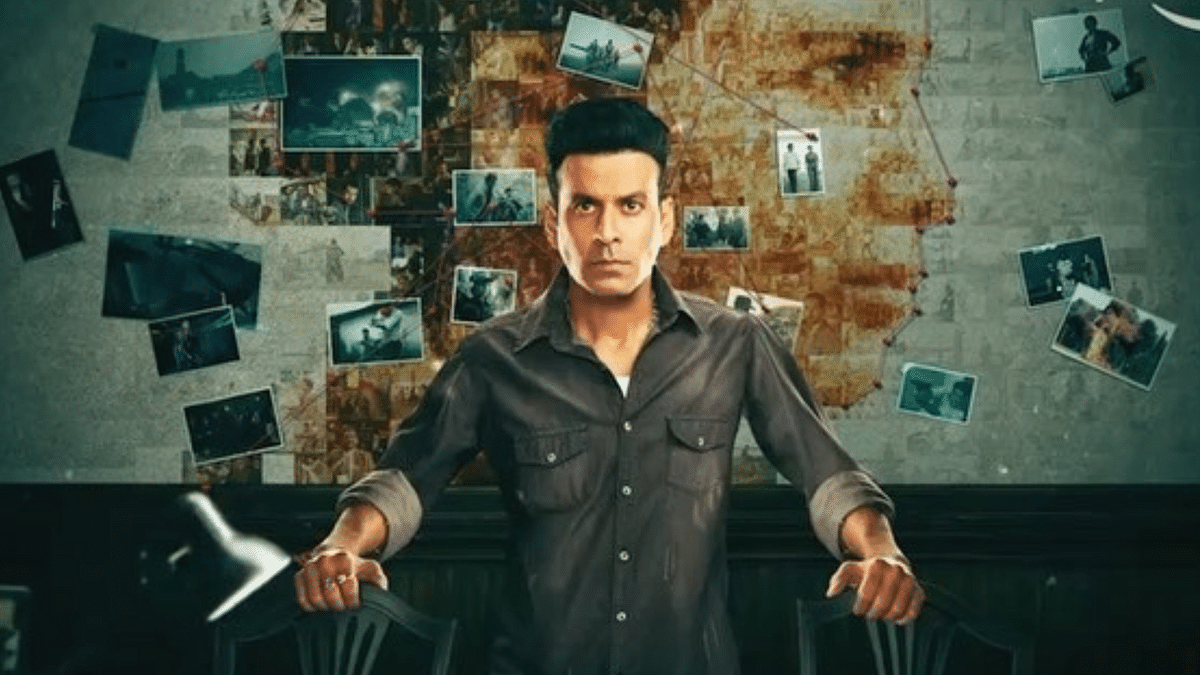 Manoj Bajpayee in a poster for Amazon Prime Video web series <i>The Family Man</i>.