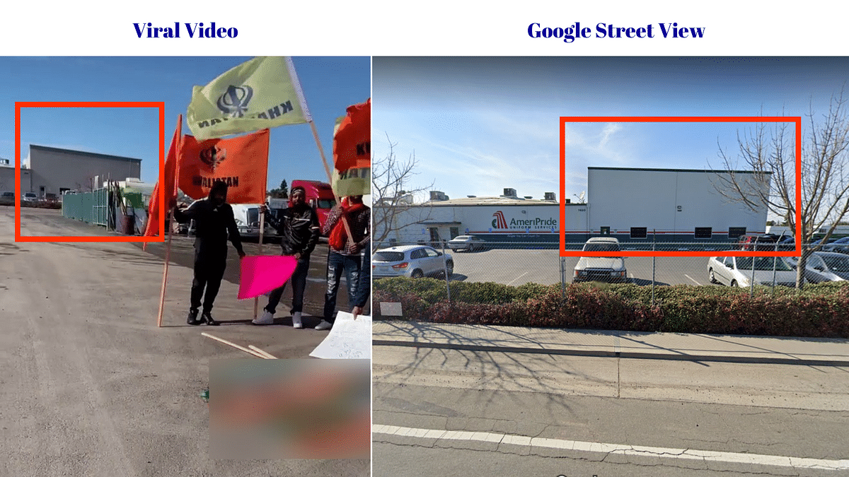 Comparison between the viral video and Google street view.