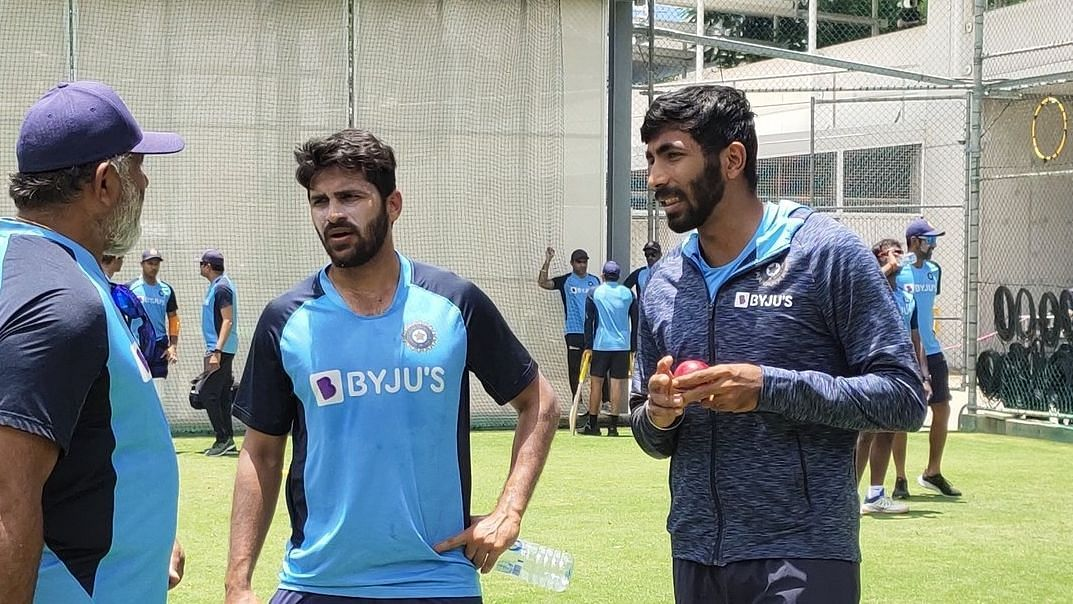 Jasprit Bumrah joined the Indian team at the training session on Wednesday.