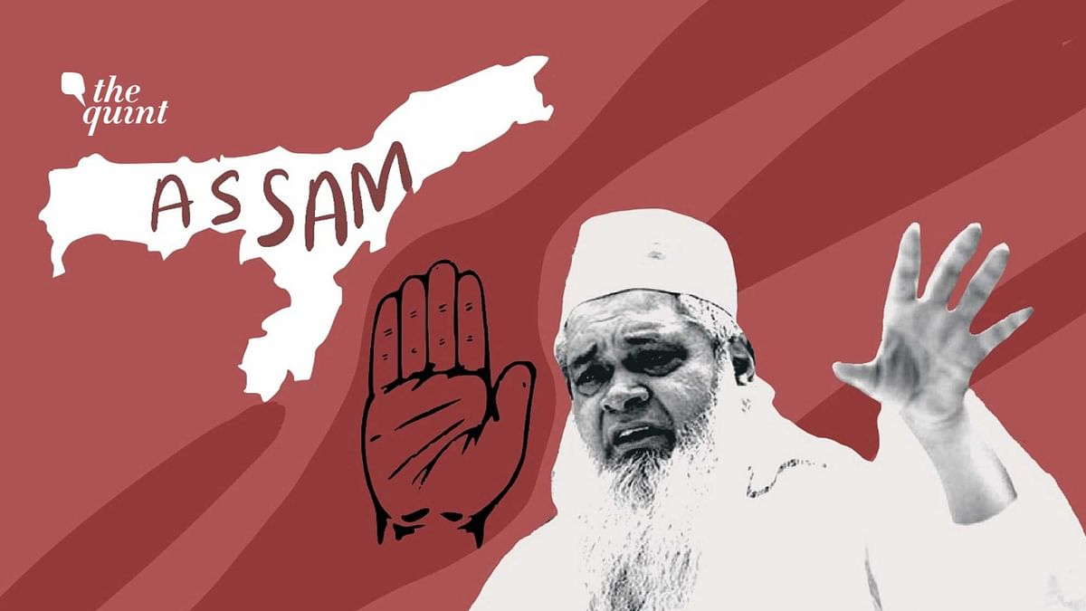 Image of Congress party's hand symbol, and image of AIUDF's leader Badruddin Ajmal used for representational purposes.