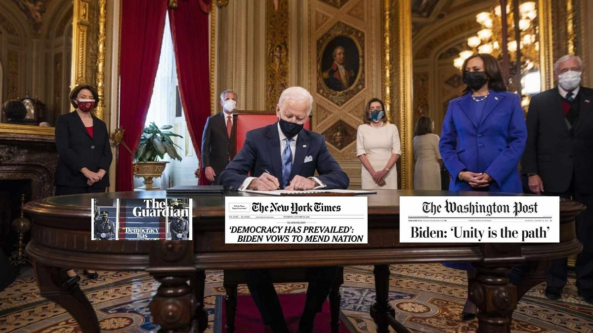 'Democracy Has Prevailed': How Dailies Reported Biden Inauguration