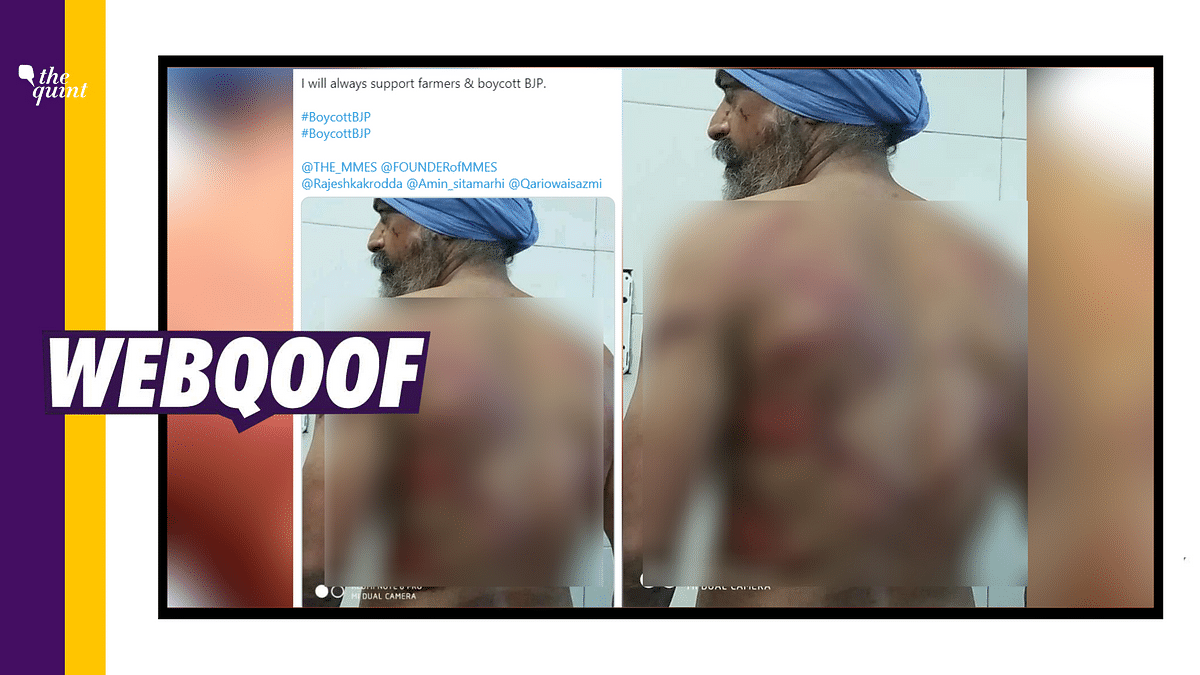 Old Image of Injured Sikh Man Revived after Farmers' R-Day Rally