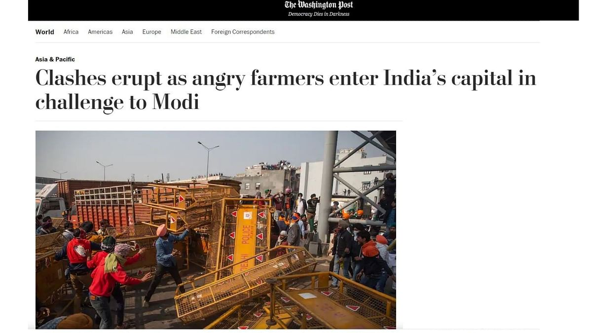 'Modi Challenged': How Int'l Media Covered Delhi Farmers' Unrest